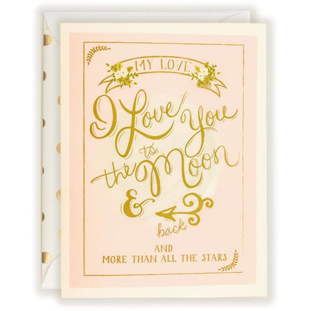 I Love You To The Moon & Back Card - The First Snow