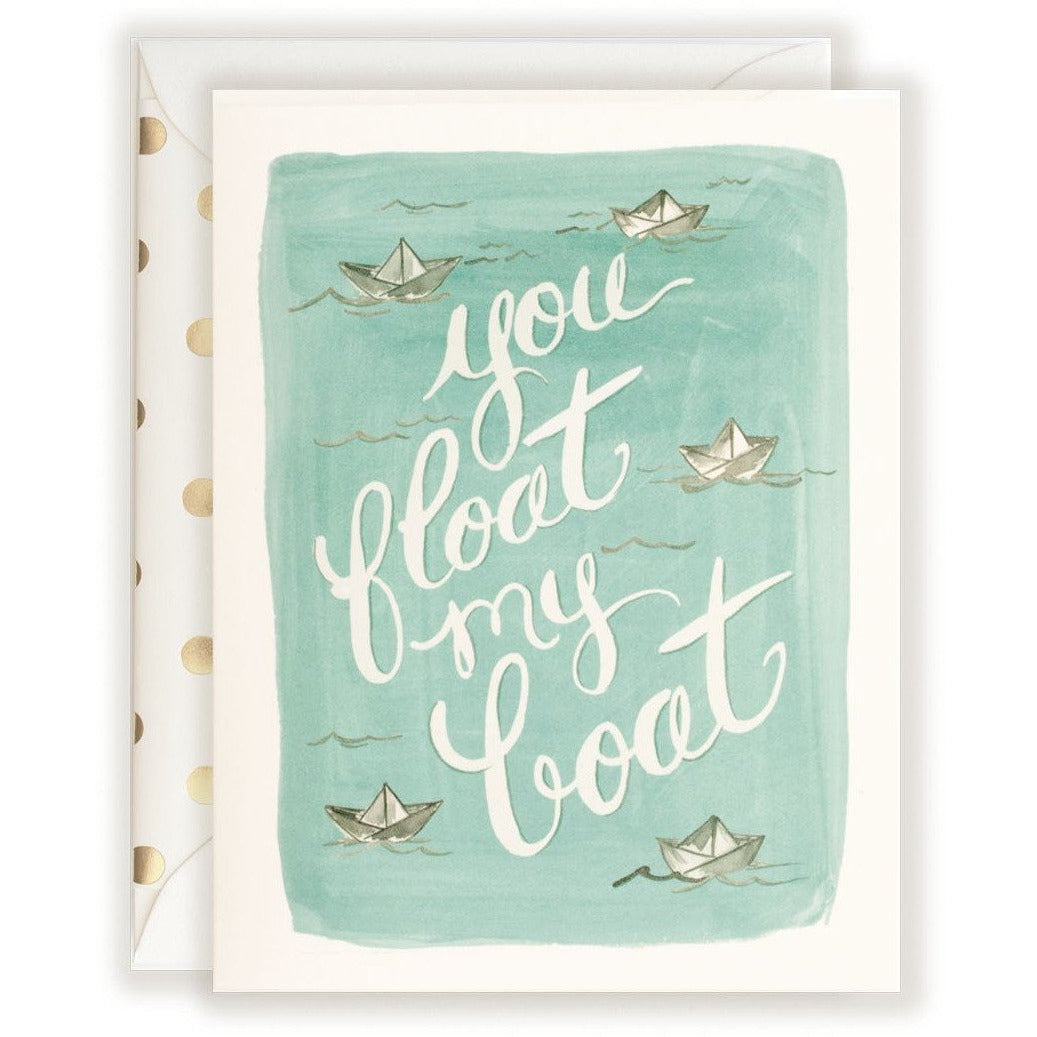 Greeting Card  You Float My Boat - The First Snow