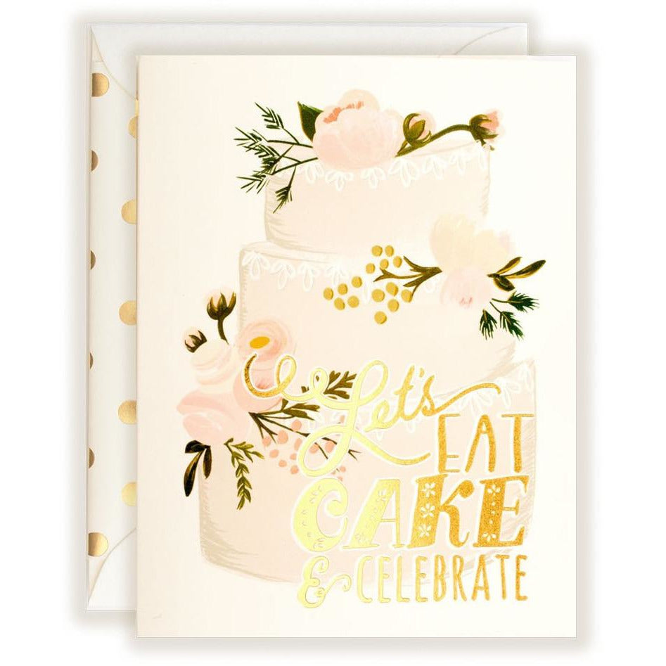 Let's Eat Cake & Celebrate Card - The First Snow