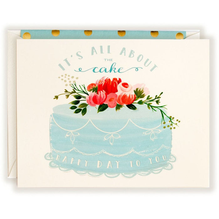 All About The Cake Birthday Card - The First Snow
