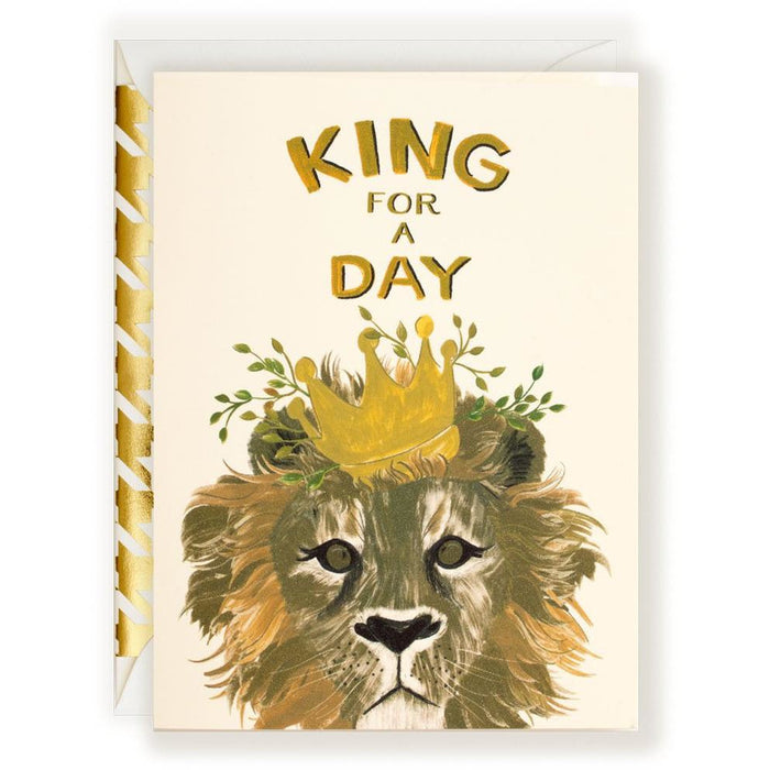 King for a Day Card - The First Snow