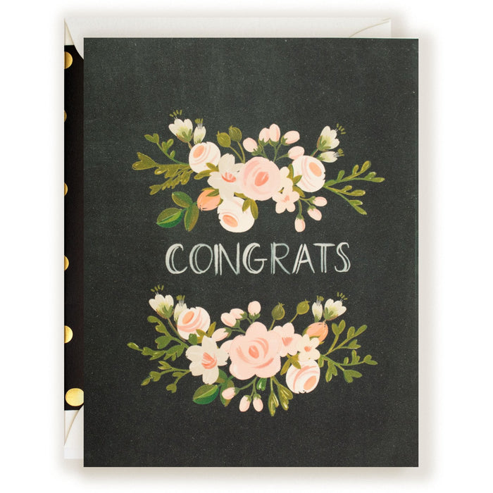 Congrats Charcoal and Blush Card - The First Snow