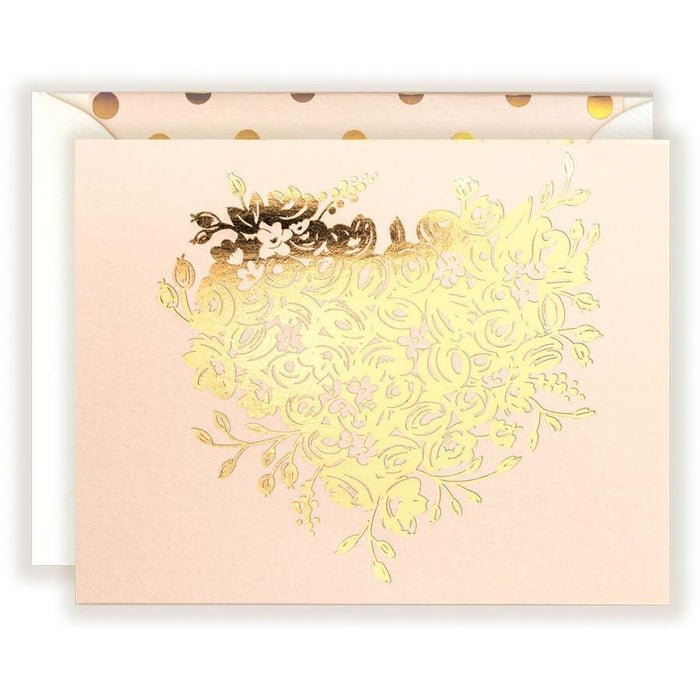 Lovely Gold Sweetheart in Blush Card - The First Snow