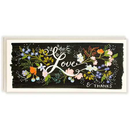 Love & Thanks Florals Card - The First Snow