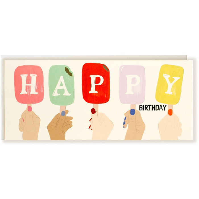 Popsicle Happy Birthday Card - The First Snow