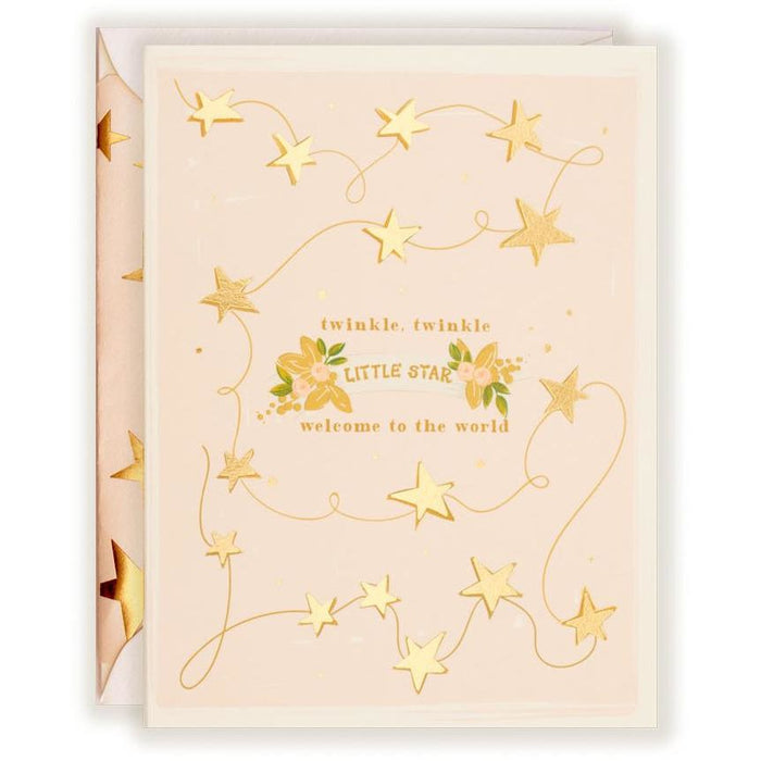 Twinkle Twinkle, Little Star Blush w gold foil stars - The First Snow