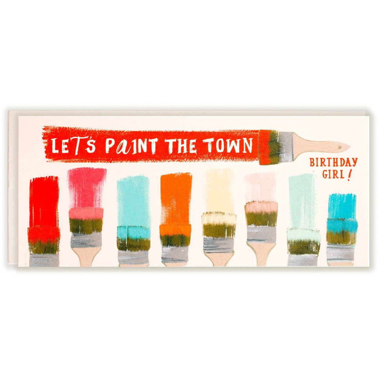 Let's Paint the Town Birthday Girl Card - The First Snow