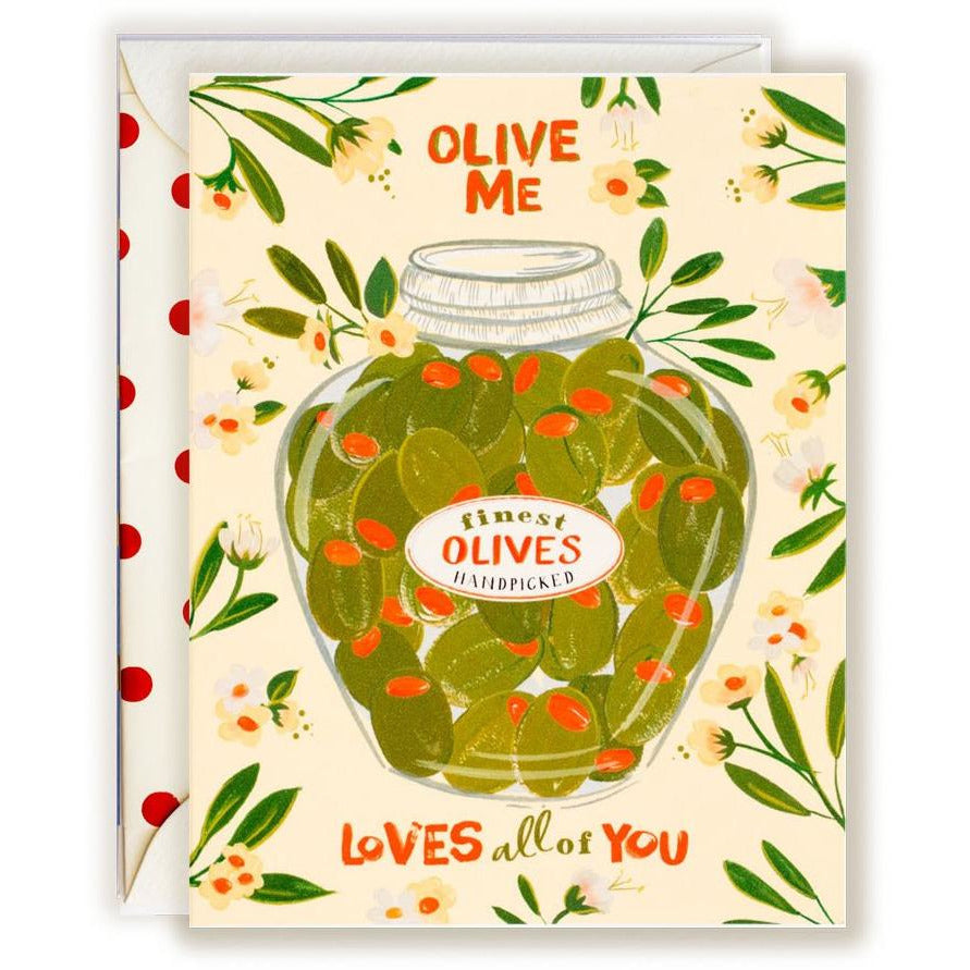 Olive Me loves all of You Card - The First Snow
