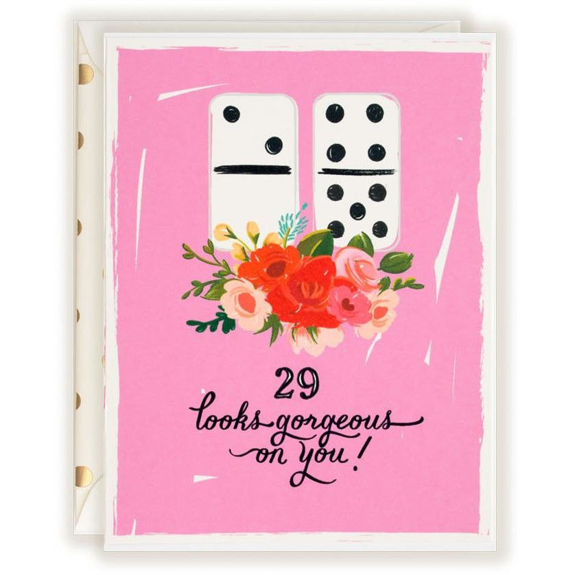 29 Looks Gorgeous on You ! Birthday card - The First Snow