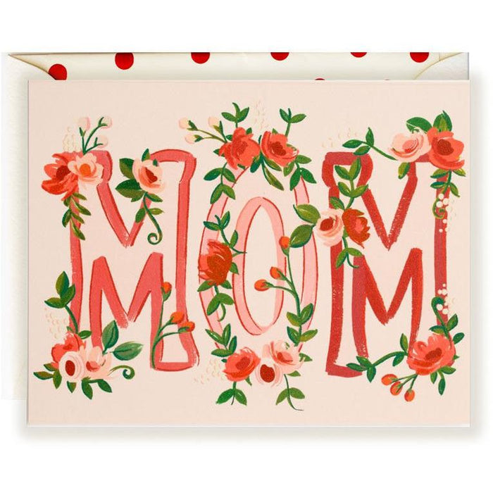 Mom Floral Card - The First Snow