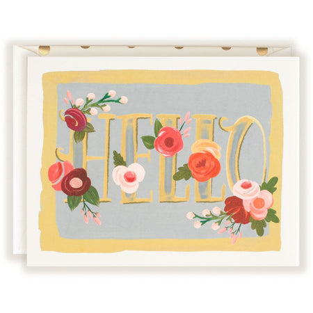 Hello Floral Note Card - The First Snow
