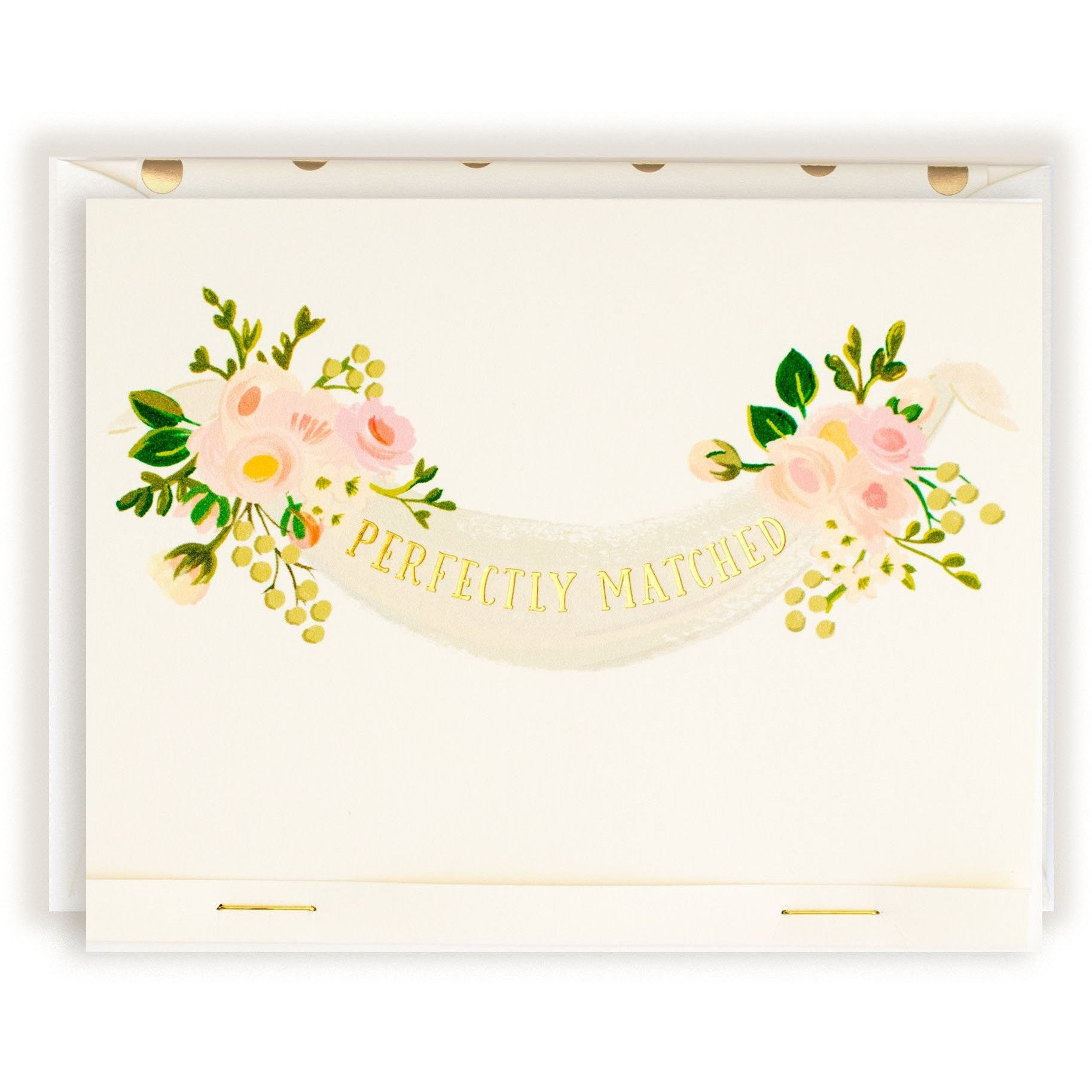 """Perfectly Matched"" Greeting Card with Included Gold Foil Envelope - The First Snow"