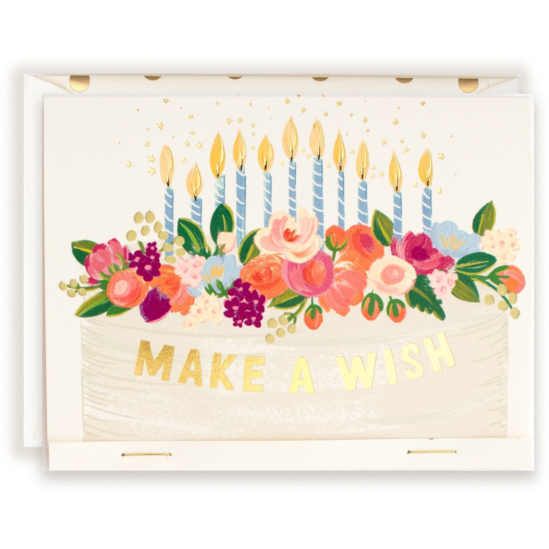 Make a Wish, It's Your Birthday Frosted Cake Birthday Card - The First Snow