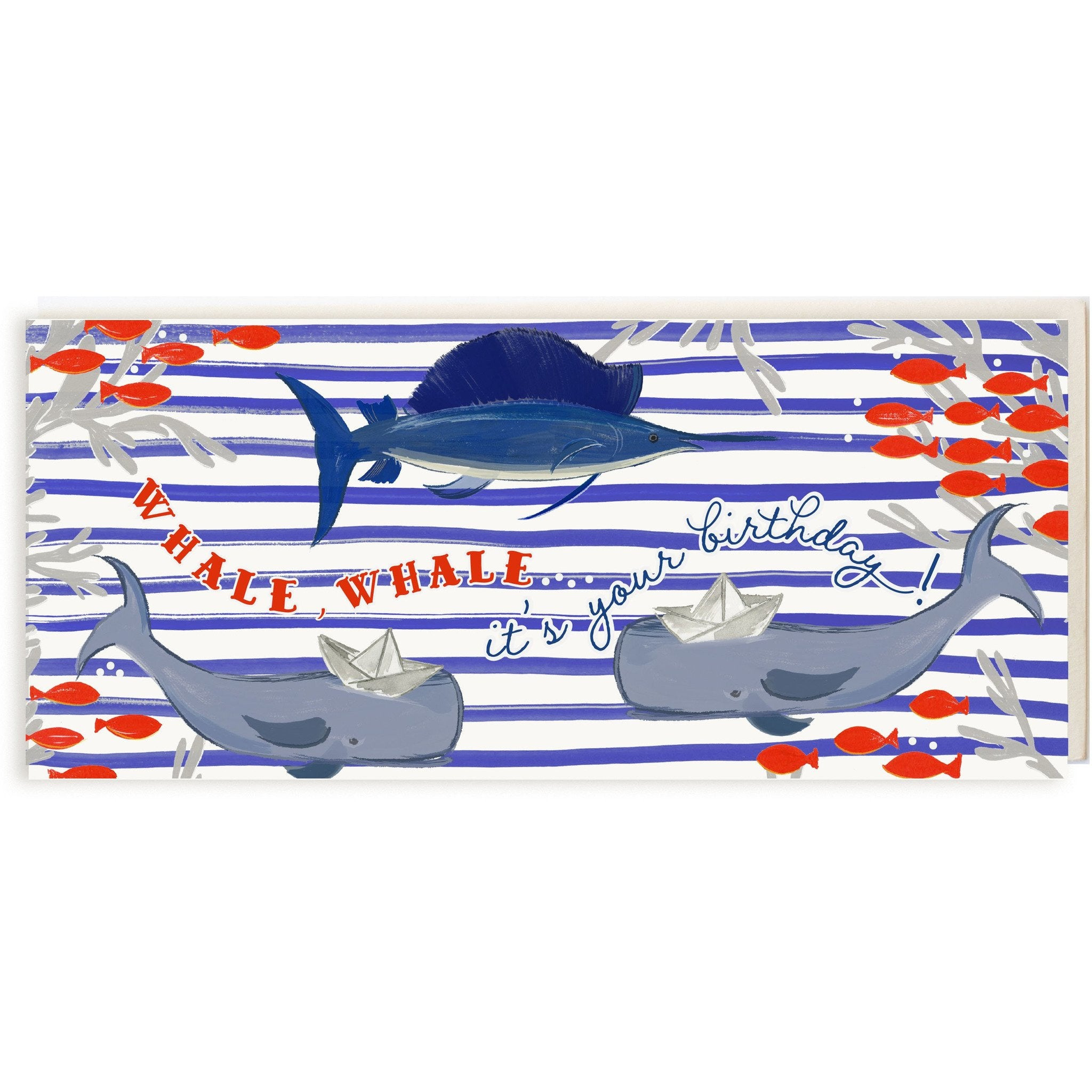 """Whale, Whale, It's Your Birthday"" Funny Nautical Birthday Card - The First Snow"