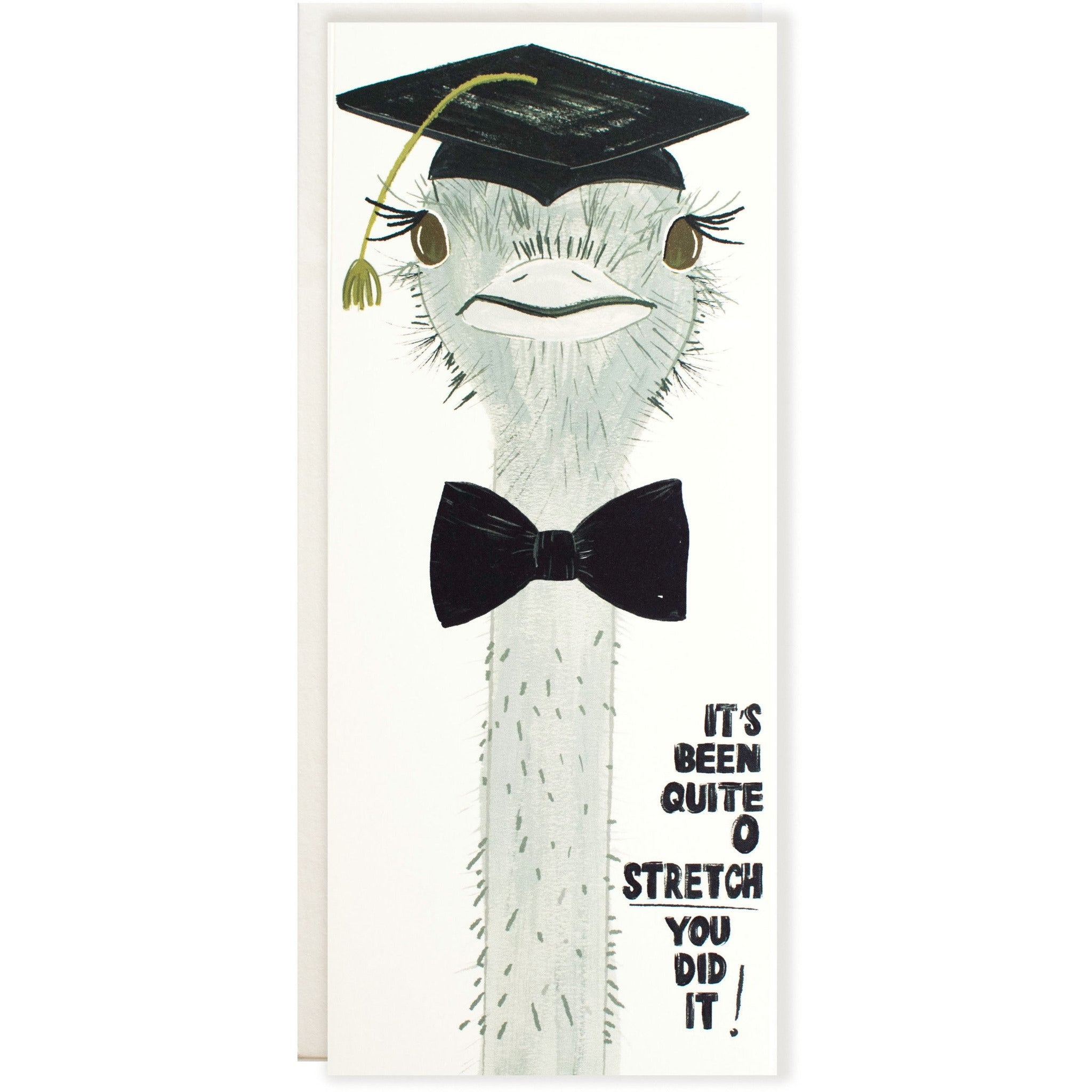 Ostrich Grad Card Bow Tie - The First Snow