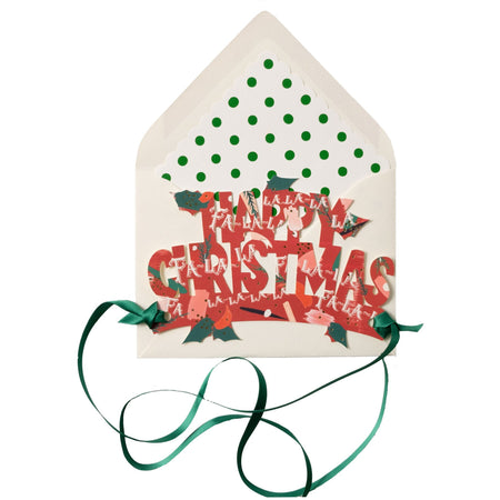Fa La La Print Happy Christmas Die cut Crown - The First Snow
