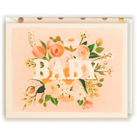 Baby Floral Card - The First Snow