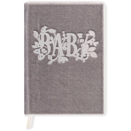 Silk Velvet-Covered Baby Book for the Memories of Your Child - The First Snow