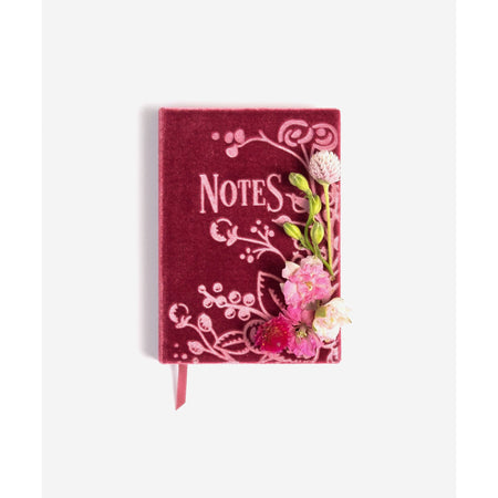 Notes Soft Velvet-Covered Note book with Lined Pages - The First Snow