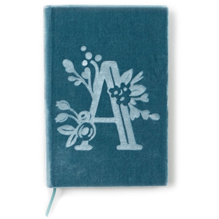 A - The Writer-Mongram Floral Velvet Book Journal - The First Snow