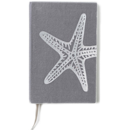 Starfish Silk Velvet Writer's Notebook with Ribbon Bookmark - The First Snow