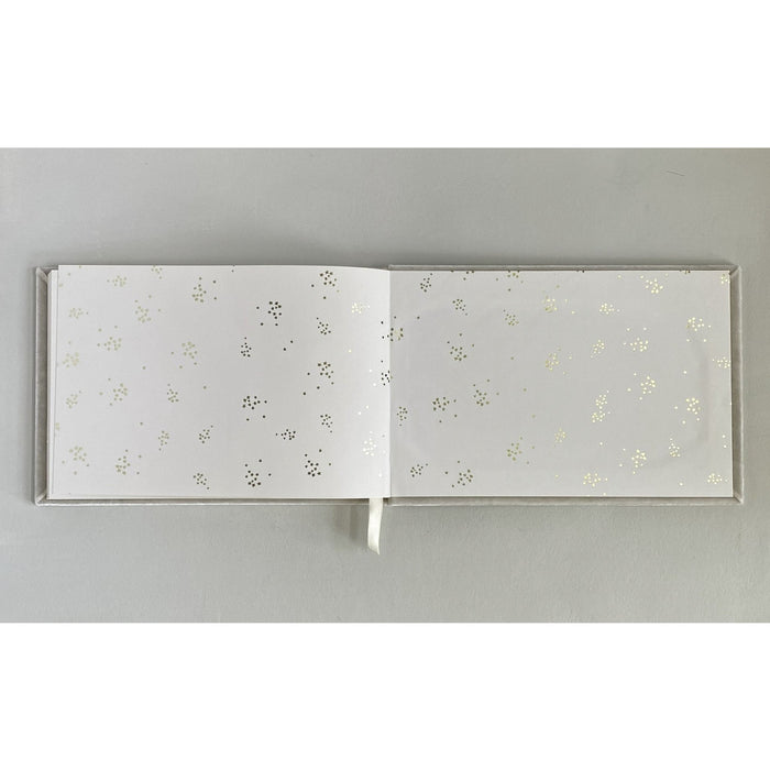 Baroque Frame Silk Velvet Guestbook by The First Snow - The First Snow
