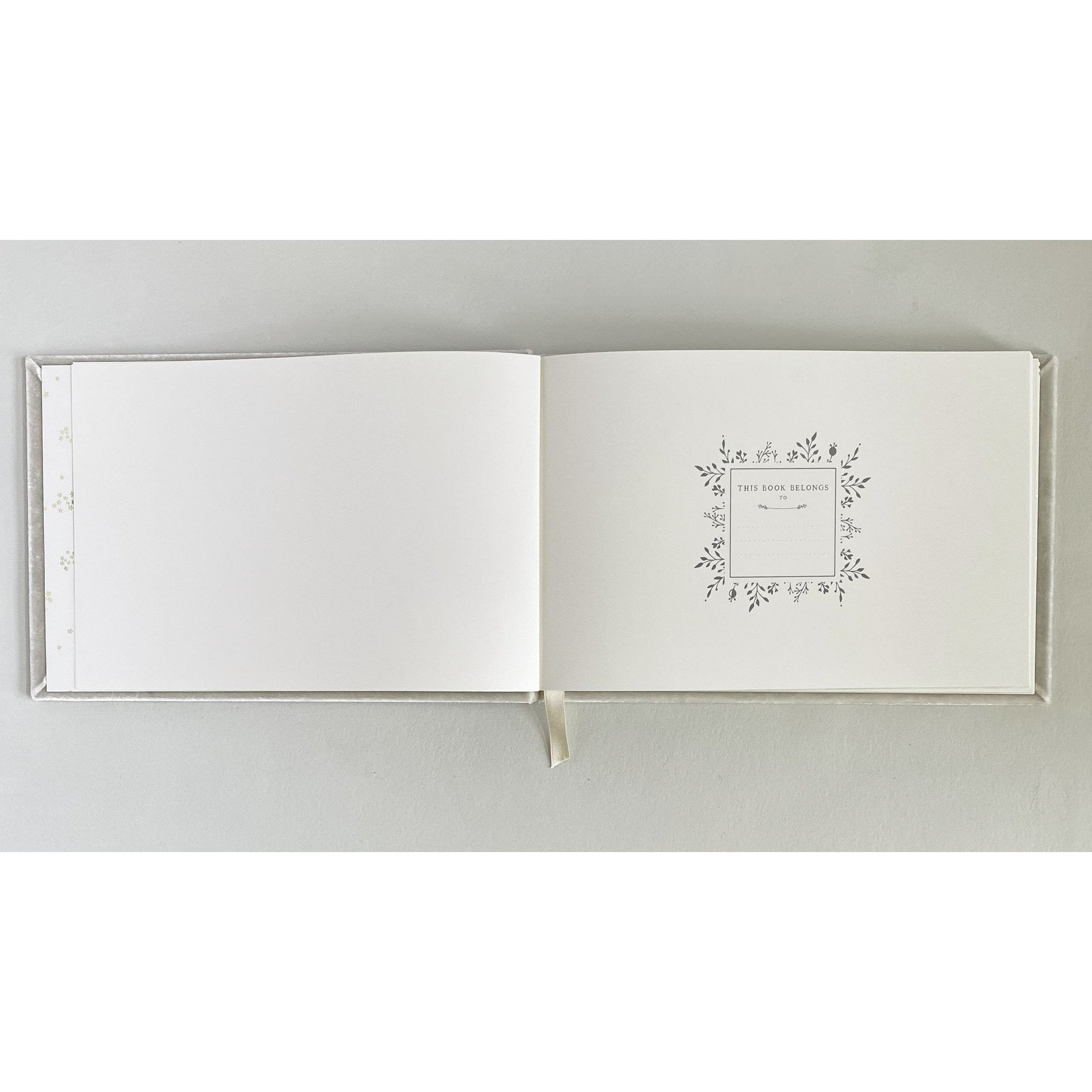Custom Text Silk Velvet Guestbook with House - The First Snow