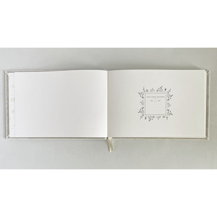 100 Page Velvet-Covered Guestbook with Custom Monogramming - The First Snow