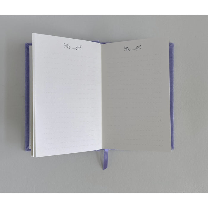 Petite Floral Heart Soft Velvet-Covered Notebook with Lined Pages - The First Snow