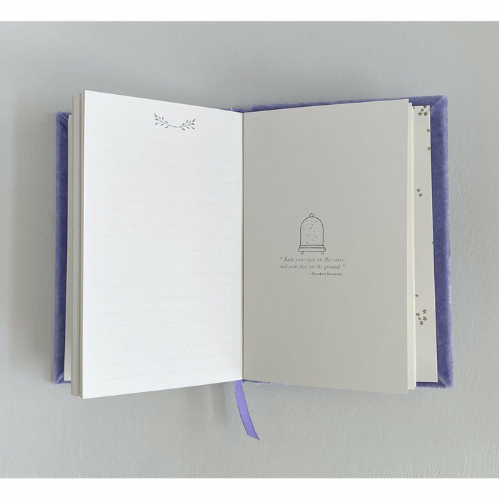 Petite Silk Velvet Monogram Crest Book - The First Snow