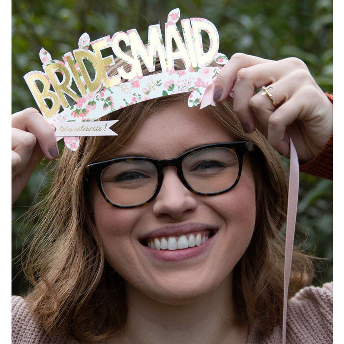Bridesmaid Paper Crown (with ribbon) Card - The First Snow
