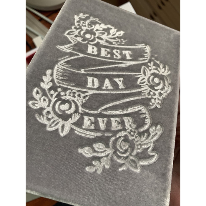 Best Day Ever Soft Velvet-Covered Notebook with Lined Pages - The First Snow