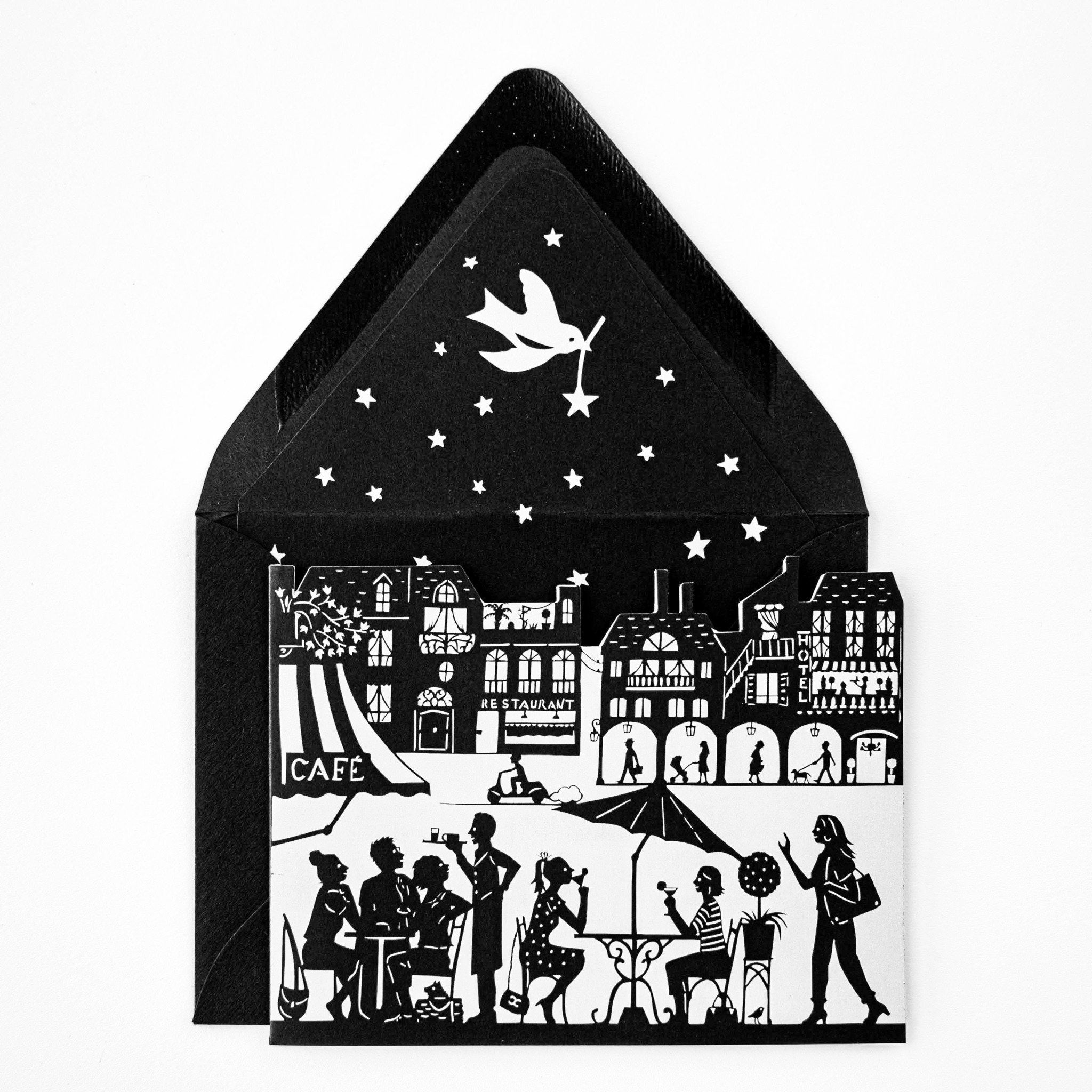 Cafe Terrace Card Die Cut - The First Snow