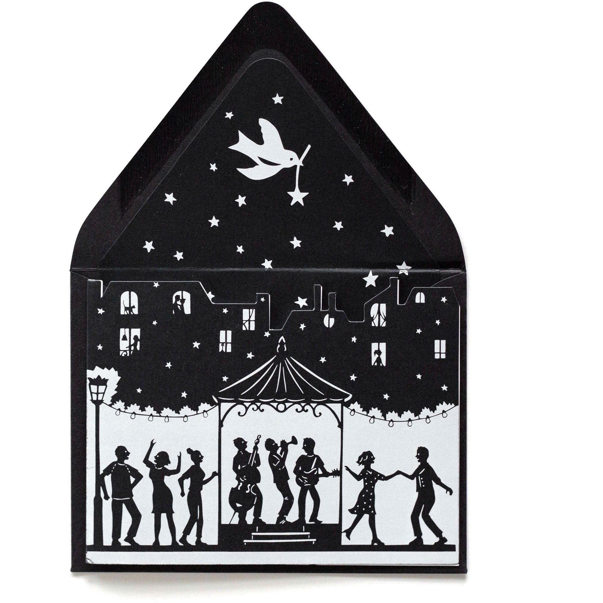 Dancing Under the Stars Card Die Cut - The First Snow