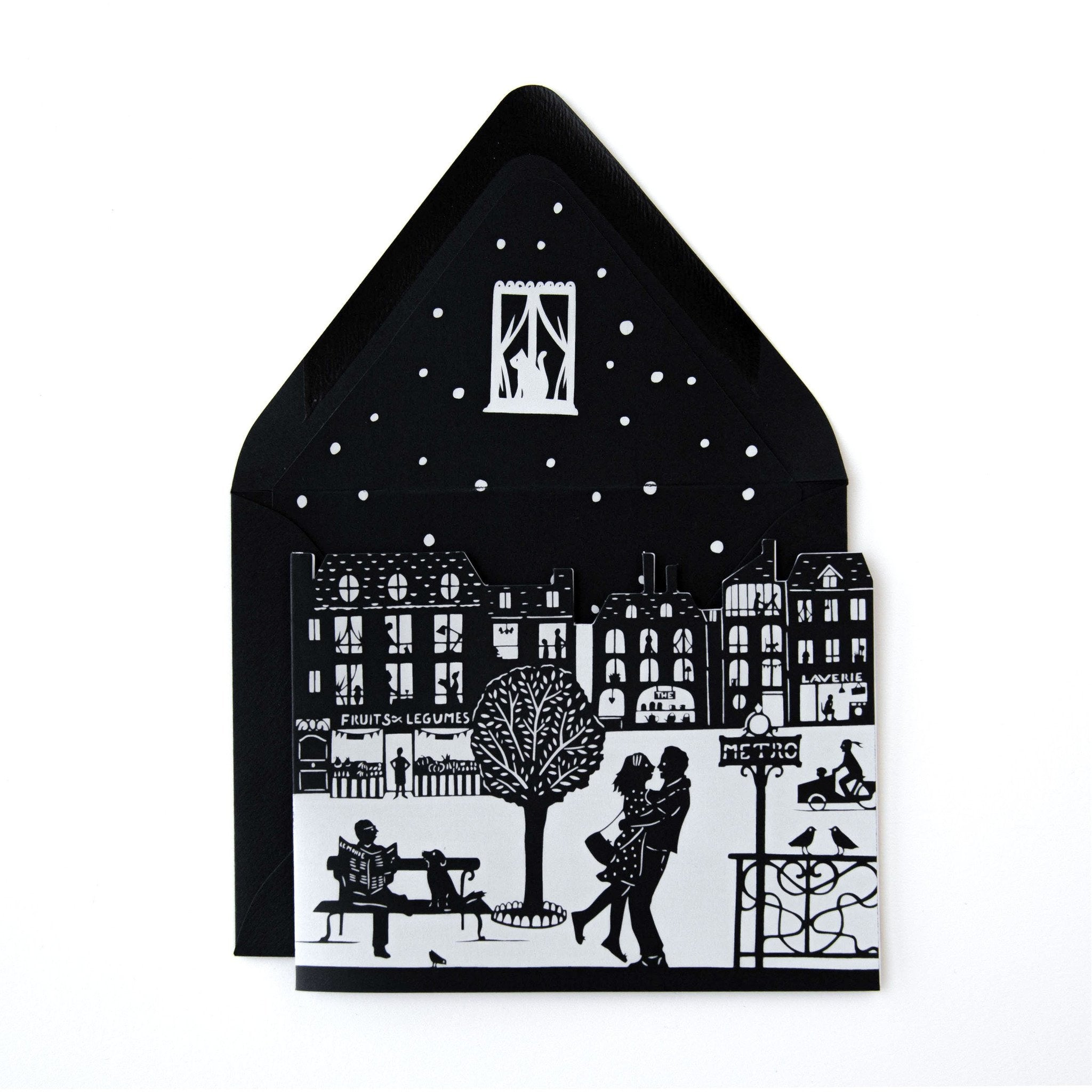 Rendez-vous City Shape card - The First Snow