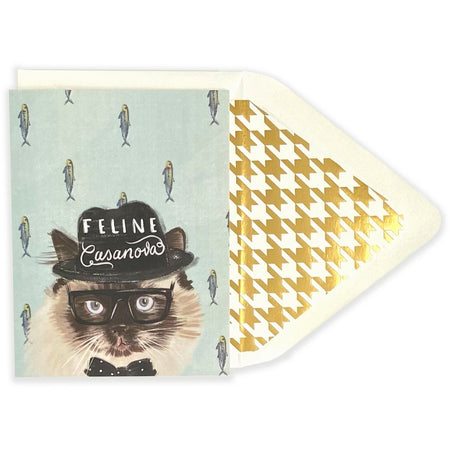 Feline Casanova Card - The First Snow