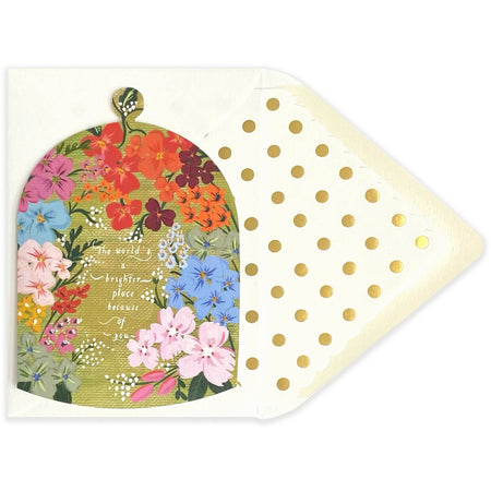 The World's a Brighter Place  Because of you Shape Card - The First Snow