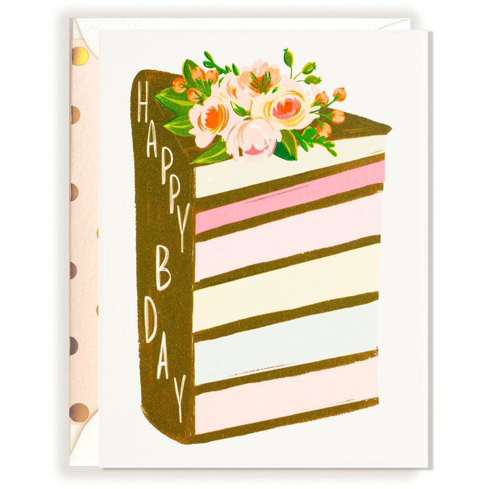 Birthday Layered Cake card - The First Snow