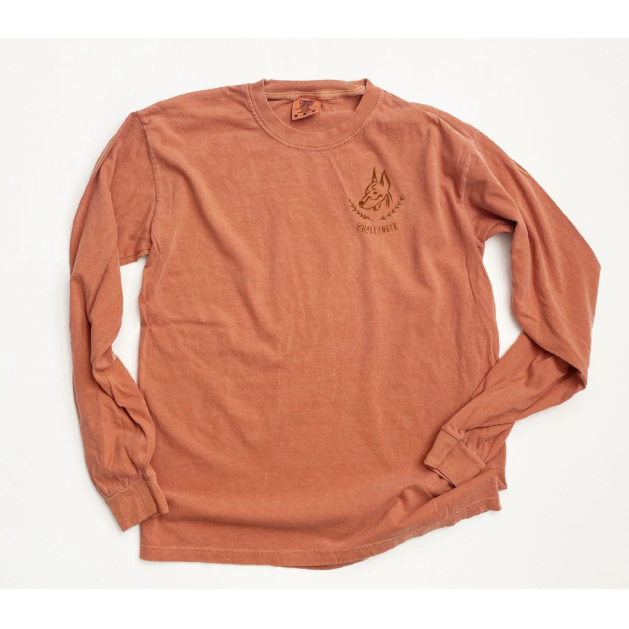 Enneagram Dog Super Soft Long Sleeve Tee in Spice - The First Snow