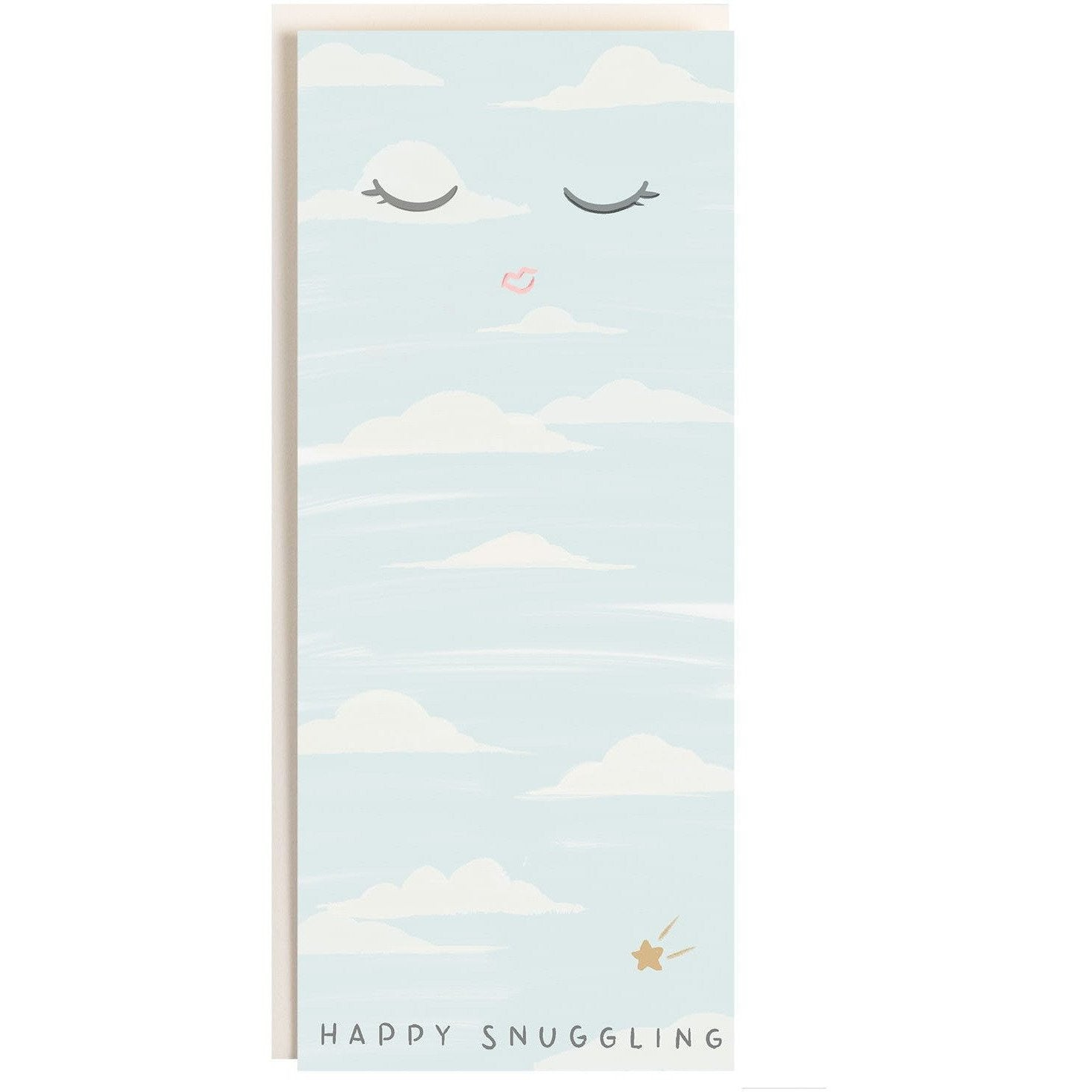 """Happy Snuggling"" Adorable Well-Wishing Card for New Parents - The First Snow"