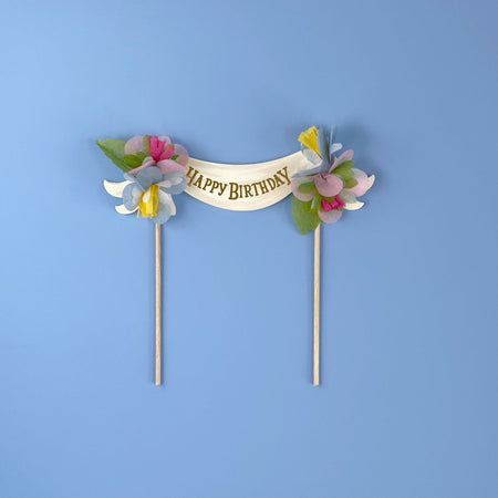 Happy Birthday Cake Topper Multi-Color by The First Snow - The First Snow