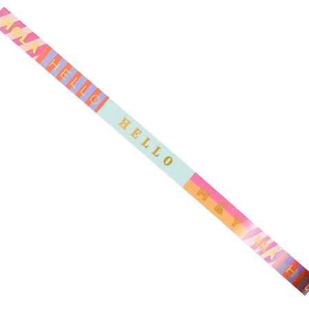 """Hello, Hola, Bonjour, Hey"" Fun and Colorful Greetings Washi Tape - The First Snow"