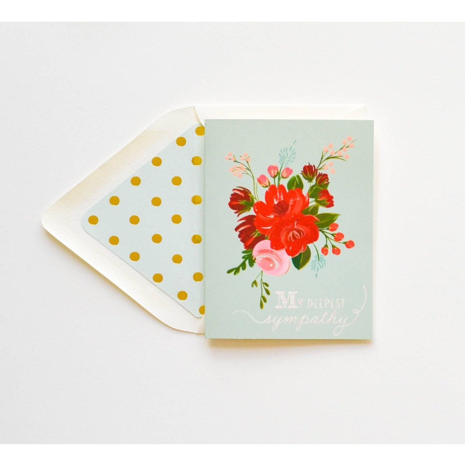 With Sympathy Floral card - The First Snow