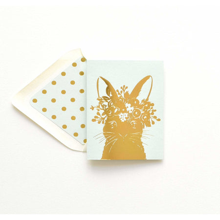 Our signature Rabbit in Gold foil - The First Snow