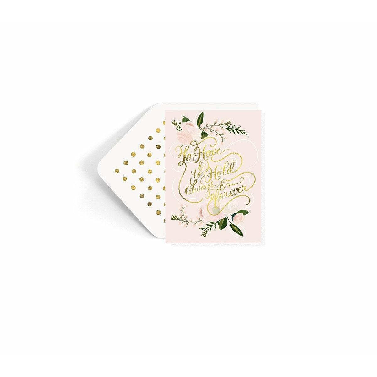 To Have and To Hold Wedding Card - The First Snow