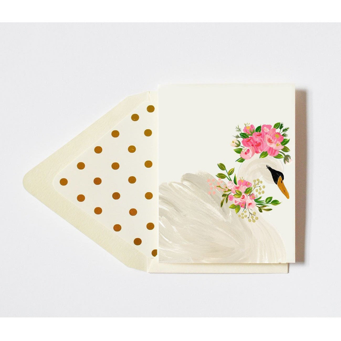 Floral Crowned Swan Card Blank - The First Snow