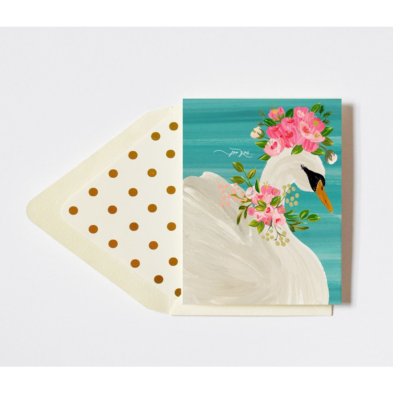 For You Card with Floral Crowned Swan - The First Snow