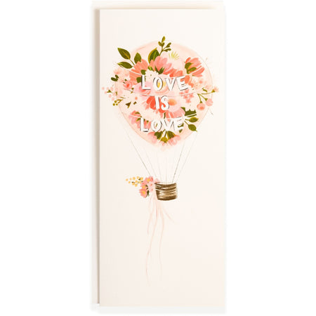"""Love is Love"" Flower Bouquet Romantic Wedding or Friendship Card - The First Snow"