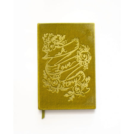 "Beautiful ""A Love Story"" Handmade Velvet-Covered Lined Notebook - The First Snow"