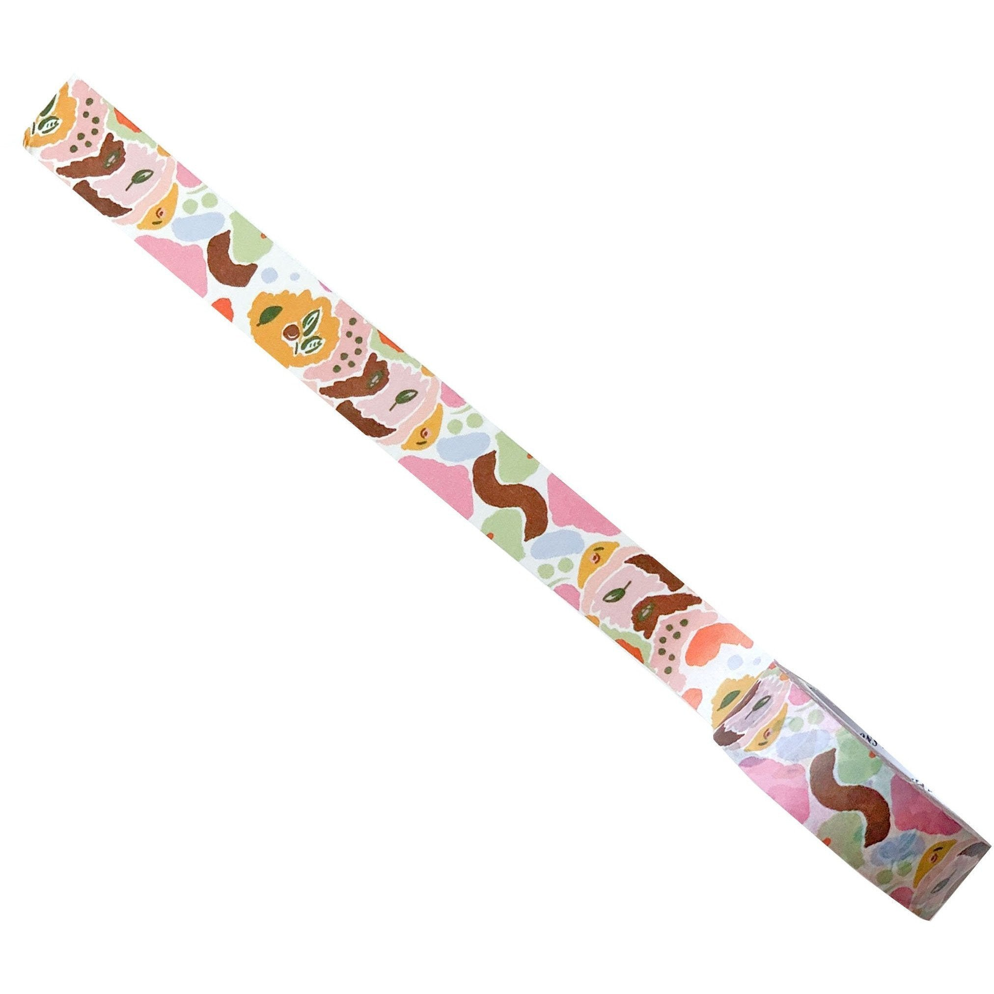 Decorative Washi Tape Featuring Colorful Modern Abstract Brushwork - The First Snow